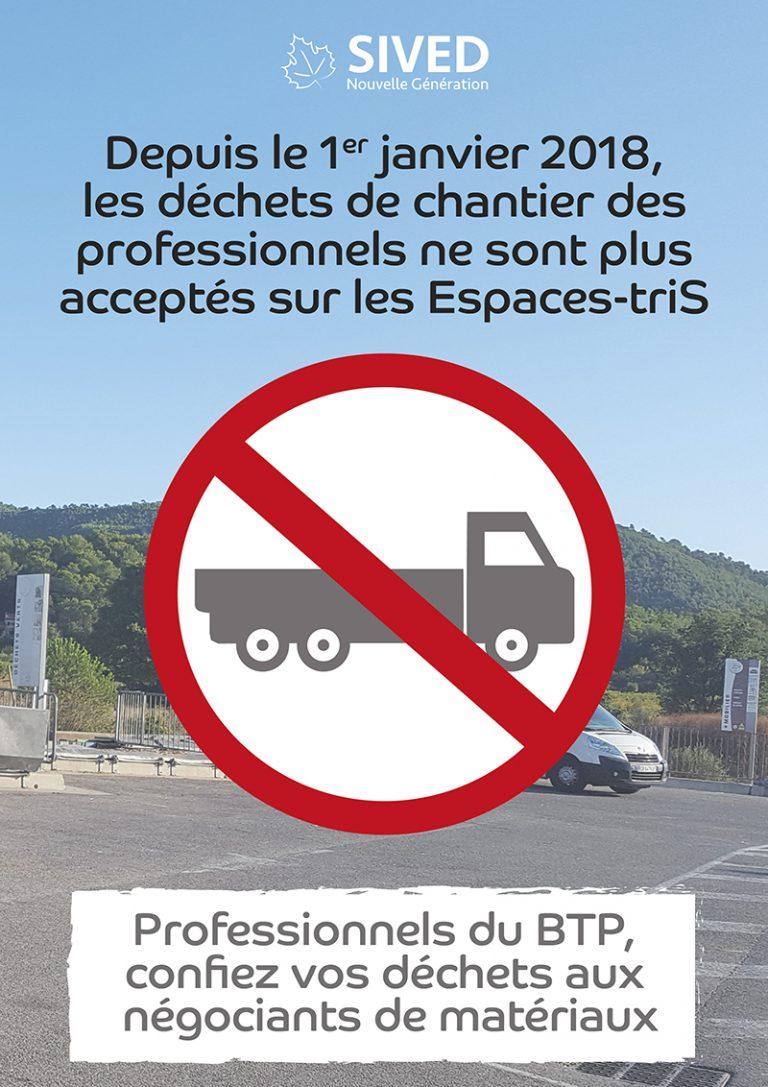 Affiche interdiction des professionnels dans les Espaces-triS