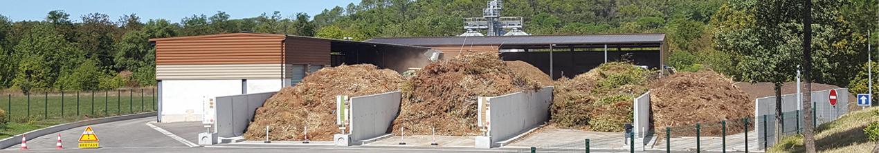 Vue d'ensemble du pole valorisation des déchets verts à Tourves