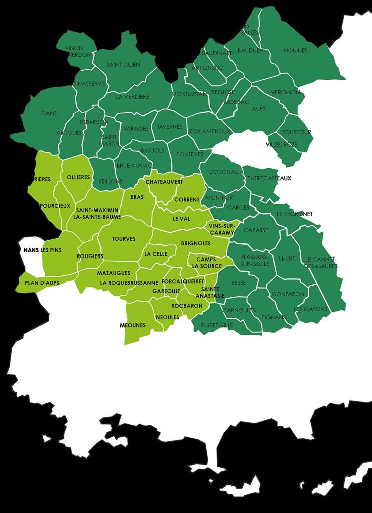 Carte de territoire, compétences collecte et traitement